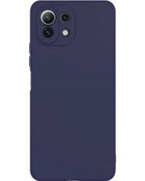 Силиконовая накладка Silky soft touch Xiaomi Mi 11 Lite (Синяя) купить в Уфе | Обзор | Отзывы | Характеристики | Сравнение