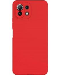 Силиконовая накладка Silky soft touch Xiaomi Mi 11 Lite (Красная) купить в Уфе | Обзор | Отзывы | Характеристики | Сравнение