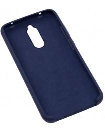 Силиконовая накладка Silky soft-touch Xiaomi Redmi 8 (Темно синяя) купить в Уфе | Обзор | Отзывы | Характеристики | Сравнение