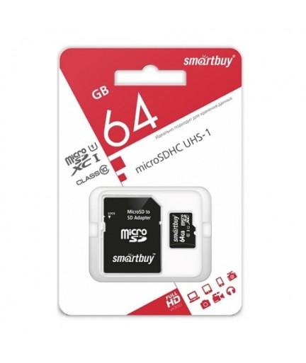 MICRO SD 64Gb Smart Buy Class 10 UHS-I купить в Уфе | Обзор | Отзывы | Характеристики | Сравнение