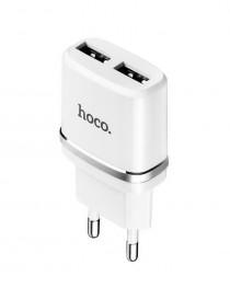 Сетевой адаптер Hoco C12 на 2 USB 2.4A (Белый) купить в Уфе | Обзор | Отзывы | Характеристики | Сравнение
